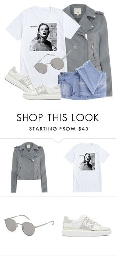 """""""Reputation"""" by smartbuyglasses-uk ❤ liked on Polyvore featuring River Island, Garrett Leight, Essie, white and gray"""