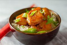 Seafood--Sriracha Shrimp Anova Recipes, Dinner Club, Sous Vide Cooking, Butter Shrimp, Toasted Almonds, Seafood Recipes, Food Styling, Curry, Good Food