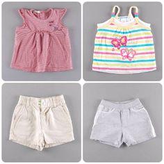 Shorts + camiseta= el look del verano, también para las más peques http://www.quiquilo.es/45-6-meses