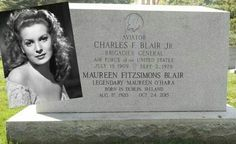 Cemetery Monuments, Cemetery Statues, Cemetery Headstones, Old Cemeteries, Cemetery Art, Graveyards, Famous Tombstones, Maureen O'hara, Famous Graves