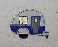 Camper (small) Tutu & Shirt Supplies - fabric iron on Applique Patch 8230 by TheFabricScene on Etsy