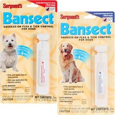 Sergeant's Bansect Squeeze-On Flea and Tick Control for Dogs