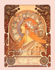 Art Nouveau Alphonse Mucha | If you like what you see please take a look at our other listings in ...