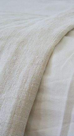for the love of linen Hemp Fabric, Linen Fabric, Linen Bedding, Textiles, Beige Aesthetic, Linens And Lace, Neutral Palette, Fabric Textures, Natural Linen
