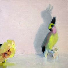 "Stephanie London, ""Suspicion"" 2014, Oil on linen, 12 x 12 inches"