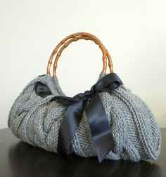 Beautiful knitted bag by NzLbags on Etsy, $70