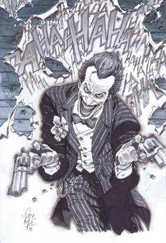 THE JOKER By Rey Macutay Joker Comic, Joker Pics, Joker Art, Comic Art, Mr Cartoon Tattoo, Sketch Tattoo Design, Joker Wallpapers, Batman Vs, Joker And Harley Quinn