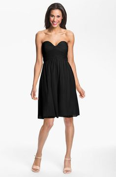 Something like this is super cute and elegant, with a colored sash or heels
