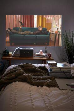 Bedroom Setup, Room Ideas Bedroom, Bedroom Decor, Nice Bedrooms, Bedroom Shelves, Master Bedroom, Projector In Bedroom, Aesthetic Room Decor, Aesthetic Photo