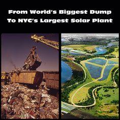 Freshkills, la plus grande décharge au monde, fermée en mars 2001 et rouverte momentanément en septembre pour enterrer les déchets de 9/11. Projet de créer un grand parc au dessus des décombres. Le déchet devient fossile, trace du passé, participant d'un palimpseste du déchet