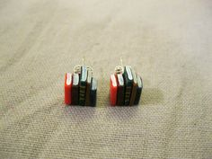 Book Stud Earrings - book jewelry by Coryographies
