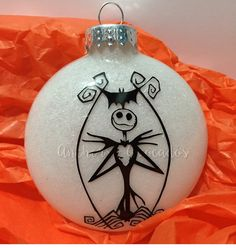 Jack Skellington Ornament, Jack Ornament, Nightmare Before Christmas Ornament, NBC Ornament, Jack Skellington, Wedding Gift, Christmas Gift