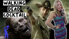 """Walking Dead Cocktail - """"Grave Denial"""" - Tipsy Bartender these walking dead drinks are death! Hahaha"""