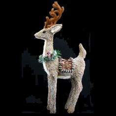 50cm Bristle Reindeer with Saddle