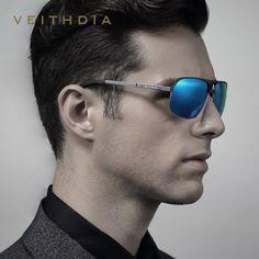 2017 New Arrival VEITHDIA  Brand Polarized Sunglasses Men Al-Mg  Eyewear Sun Glasses Male gafas oculos de sol masculino 6521