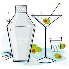Retro-style Martini Royalty Free Stock Vector Art Illustration