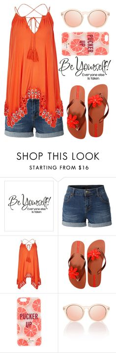 """""""Be yourself!"""" by mareehamasood246 on Polyvore featuring LE3NO, River Island, IPANEMA and Kate Spade"""