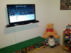 """The new 42"""" LED LCD TV we picked up for the boys. We also got them a blue ray player and today picked up a cable box for them. I love the way it turned it."""