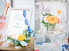 wedding signs - photo by Lora Grady Photography http://ruffledblog.com/bowties-and-bourbon-southern-wedding-inspiration