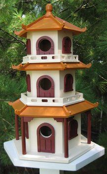 Decorative Chinese Pagoda Bird House: take out the walls and you could have a nice bird feeder, too.