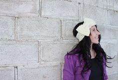 CROCHET PATTERN PDF - Bow Earwarmer - Bow Headband - Permission To Sell Finished Items. $5.50, via Etsy.