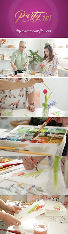 Create your own art this spring! In this tutorial for DIY watercolor flowers, learn from Hallmark Master Watercolor Artist Craig Lueck. Watercolor Flowers Tutorial, Flower Tutorial, Flower Crafts, Flower Art, Iphone Drawing, Pattern Sketch, Paper Flowers, Diy Flowers, Learn To Paint