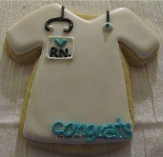 Scrub Shirt Cookies 1 dozen by TheSweetShopCookieCo on Etsy, $19.95  For my nursing school grad party!