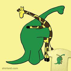 awwww #Giraffe #Dinosaur #T_Shirt