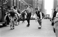 skateboarding in NYC in the 1960s