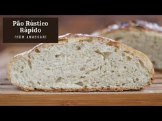 Quick No Knead Rustic Bread Home Recipes, Cooking Recipes, Rustic Bread, Portuguese Recipes, Bread Baking, Food And Drink, Vegan, Breads, Fig Recipes
