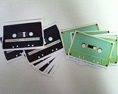 cassette tapes on label for your personal items or to say thank you to your customers-custom labels or custom stickers
