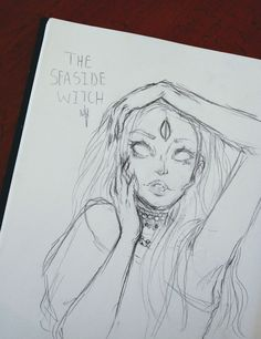 The Seaside Witch: Character Concept sketch for A Silent Symphony //@artistlovenvr