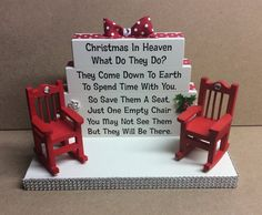 Christmas in Heaven Poem memorial table top wood sign Crafty Christmas Gifts, Grinch Christmas Decorations, Dollar Tree Christmas, Christmas Gifts For Boyfriend, Homemade Christmas Gifts, Diy Christmas Ornaments, Simple Christmas, Winter Christmas, Holiday Crafts