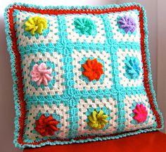 crocheted rose cushion | Flickr - Photo Sharing!