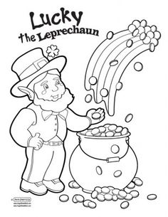 san patrick day coloring pages | Leprechaun pattern. Use the printable outline for crafts ...