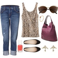 love the plum tote with the leopard tank