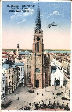 Novi Sad, Roman Catholic, Old Photos, Barcelona Cathedral, Beautiful Places, Statue, City, Building, Travel