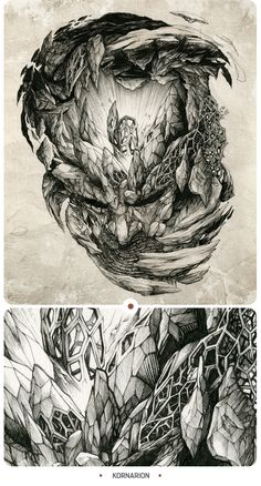 INKSTINCTIVE II by DZO Olivier, via Behance. Inspiring use of perspective in this one.