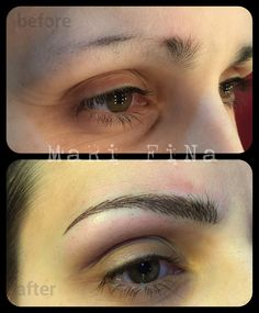 Eyebrowns tattoo Sopracciglia tatuate. PERMANENT MAKE-Up  Tattoo Artist : Mari Fina  www.subliminaltattoo.it