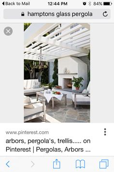 Trellis, The Hamptons, Outdoor Living, Living Spaces, Pergola, Outdoor Structures, Outdoor Life, The Great Outdoors, Arbors