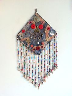 Amulet vintage Uzbek for wallhaning Home decor handmade