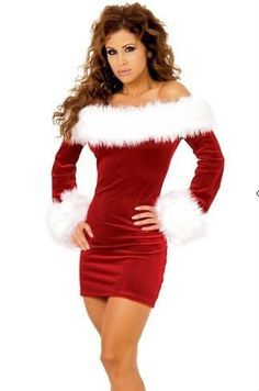 Hot 2012 Cheap red christmas santa costumes chemise lingerie dress for women christmas party $20.19. aliexpress.com