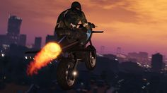 GTA Online - Crossing San Andreas on a Flying Motorcycle We take GTA Online's best new vehicle on a flight across San Andreas from bottom of the map to the top un under 5 minutes on the new Oppressor motorcycle from the Gunrunning Update in GTA Online. June 27 2017 at 07:50PM  https://www.youtube.com/user/ScottDogGaming