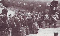 Polish soldiers of the 1st Polish Independent Parachute Brigade boarding plane- Operation Market Garden -Battle of Arnhem