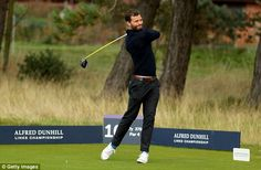 Golfing: Dakota's co-star Jamie Dornan was spotted teeing off at theAlfred Dunhill Links ...