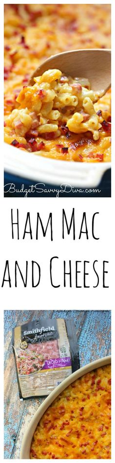 Mac and Cheese with Ham Recipe | Budget Savvy Diva - Dinner done in under 30 minutes. If you can make a cake from a box mix you can make this homemade mac and cheese! Perfect pasta recipe for fall. Cheesy Mac and Cheese Recipe AD - what are you making for dinner tonight? SmithfieldHambassador