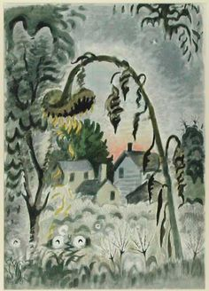 Canton Museum of Art - Charles E. Burchfield- September Afterglow