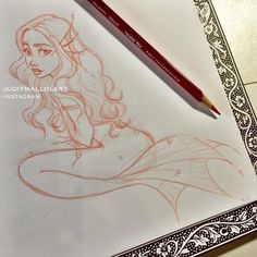 The secret of the sea by juditmallolart on DeviantArt Pretty Drawings, Art Drawings Sketches, Cool Drawings, Mermaid Drawings, Mermaid Art, Pretty Art, Cute Art, Arte Sketchbook, Sketch Inspiration
