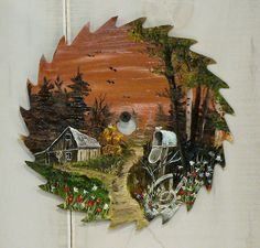 Oil Painting on a recycled saw blade
