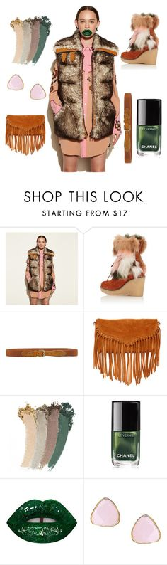 """""""Giant Green Peach"""" by pretty-pebs ❤ liked on Polyvore featuring Coach, Mr & Mrs Italy, Maison Scotch, SUSU, Gucci, Chanel, Lime Crime and Ottoman Hands"""